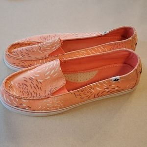 Sperry Top Sider Slip on Coral Peach Size 8M